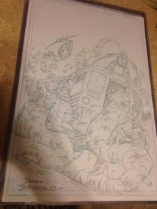 Teenage Mutant Ninja Turtles: New Animated Adventures #6 Original Cover Art