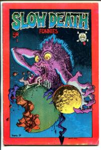 Slow Death Funnies #1 1970-1st issue-R Crumb-Greg Irons-Shelton-1st print-VG