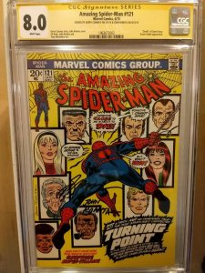 AMAZING SPIDER-MAN #121 CGC 8.0 SS GERRY CONWAY & JOHN ROMITA (white pages)