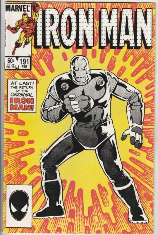 Iron Man #191 (Feb-86) NM+ Super-High-Grade Iron Man