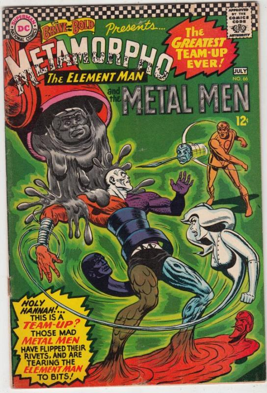 Brave and the Bold, The #66 (Jul-66) FN/VF+ Mid-High-Grade Metamorpho, Metal ...