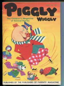 PIGGLY WIGGLY #1-WINTER 1953-COMICS-PUZZLES-FUNNY ANIMALS-SOUTHERN STATES-vf