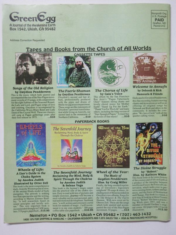 Green Egg A Journal of the Awakening Earth Vol. 28 No. 110 Fall '95 Jerry Garcia