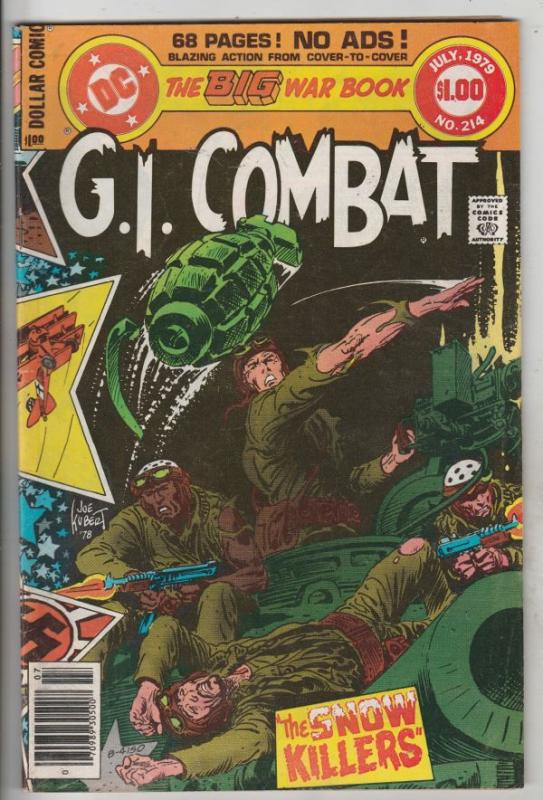 G.I. Combat #214 (Jul-79) FN/VF Mid-High-Grade The Haunted Tank