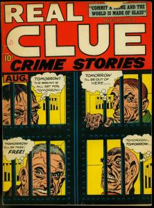 Real Clue Crime Stories V.2 #6 1947-Simon & Kirby- Prison cover- Gunmaster VG-