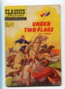 Classics Illustrated  86 VG- Under the Flags 1st Edition