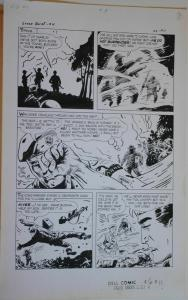 SAM GLANZMAN original art, TALES of the GREEN BERET #4 pg 11, 14x 22, War, 1967