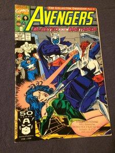 Avengers #337 Marvel Comics (1991) VFN+ Blasted By the Brethren