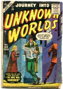 Journey into Unknown Worlds- 1st Silver Age issue- Kubert- Torres Atlas Sci Fi