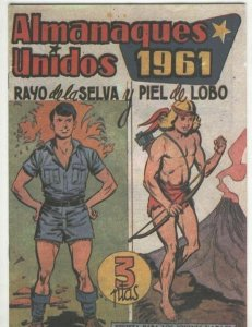 Rayo de la Selva y Piel de Lobo almanaque facsimil 1961