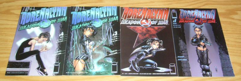 Adrenalynn #1-4 VF/NM complete series - tony daniel's tenth bad girl spin-off