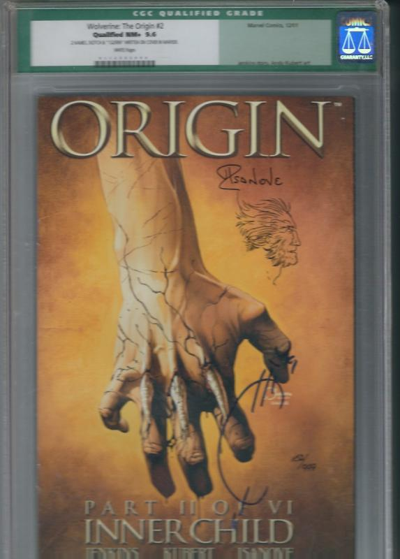 ORIGIN #2 CGC 9.6 SIGNED AND NUMBERD #152 OF 999 COPIES JOE QUESADA  85.00
