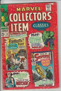 Marvel Collectors' Item #10 (Aug-67) VG/FN Mid-Grade Fantastic Four, Mr. Fant...