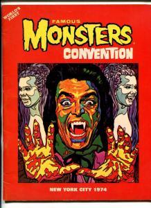 FAMOUS MONSTERS CONVENTION 1974-1ST ONE-ACKERMAN AUTOGRAPHED-WARREN-fn