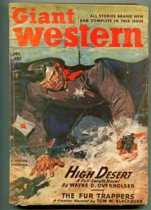 GIANT WESTERN 12/1948-THRILLING-PULP WESTERN THRILLS-CARDS-GUN FIGHT COVER-vg