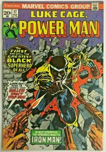 LUKE CAGE, POWER MAN#17 VG/FN 1974 MARVEL BRONZE AGE COMICS