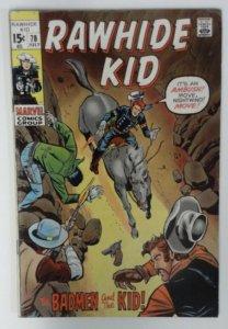 Rawhide Kid #78 Marvel Comic 1970 Bronze Age FN  Western Cowboy Comics