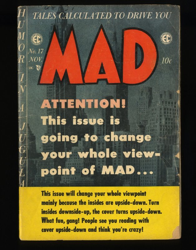 Mad #17 GD- 1.8