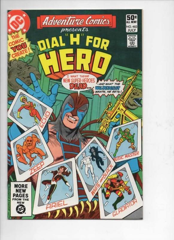 ADVENTURE COMICS #483, NM-, Dial H for Hero, 1938 1981, more in store