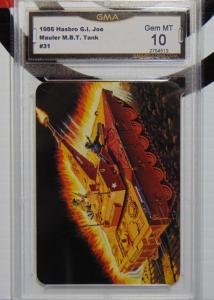 1986 Hasbro G.I. Joe Mauler MBT Tank Series #1 Trading Card #31 - Graded GEM 10