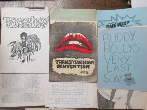 Rocky Horror Picture Show Mimeozine Lot Transylvanian Convention + Sedation