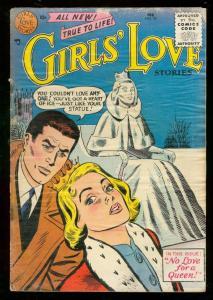GIRLS LOVE STORIES #39 1956-ROMANCE-DC-SNOW QUEEN ISSUE FR/G