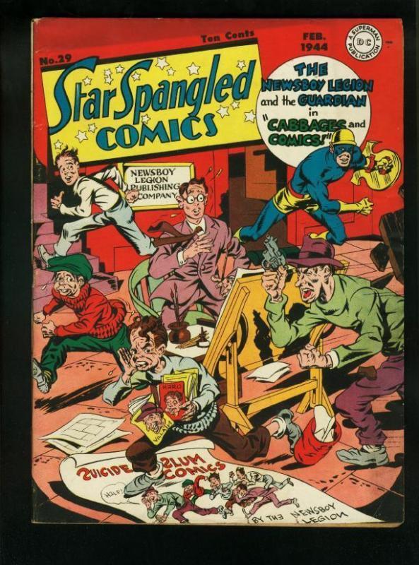 STAR SPANGLED COMICS #29-1944-SIMON & KIRBY WW II ISSUE FN/VF
