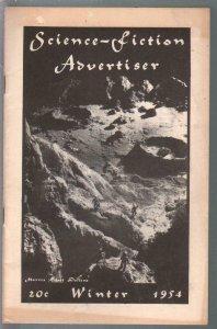Science-Fiction Advertiser-Winter 1954-early fanzine-rveiews-pulps-sci-fi-VF-