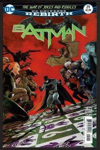 Batman #29 Rebirth (Oct 2017, DC) 0 9.2 NM-