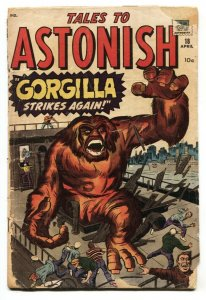 TALES TO ASTONISH #18-1961-MARVEL-KIRBY-DITKO-incomplete