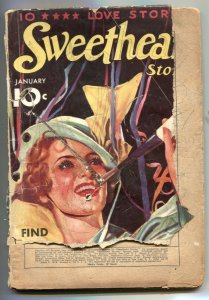 Sweetheart Stories Pulp January 1936- low grade copy