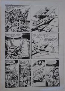 LEE ELIAS original art, WARFRONT #27 pg 3,14x 20,1955, Hitler, Air Battle, WWII
