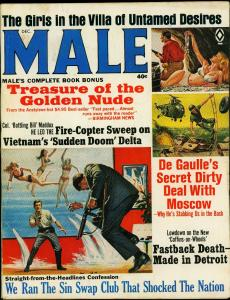Male Pulp Magazine December 1966- De Gaulle- Swap Clubs VG-
