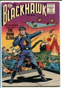 BLACKHAWK #102 1956-QUALITY-FLYING WING COVER-vf minus