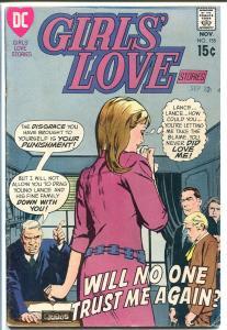 GIRLS' LOVE STORIES #155-DC ROMANCE-COURT/JUDGE CVR VG+