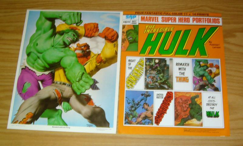 Marvel Super Hero Portfolios: Incredible Hulk by Faster & Larson HULK VS THING