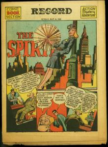 The Spirit Section May 16 1943- Will Eisner- My Mystic - Lady Luck VG