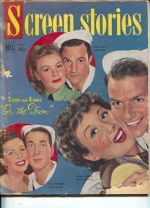 Screen Stories-Gene Kelly-Frank Sinatra-Ann Miller-Audie Murphy-Jan-1950's