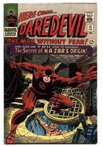 Daredevil #13 1966  marvel comic book Ka-zar Origin VF-