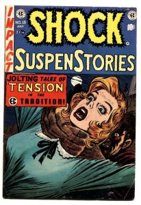 Shock SuspenseStories #15 comic book 1954-EC violent Jack Kamen cover