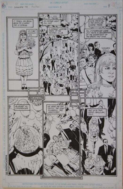 PHIL JIMENEZ / BRUCE PATTERSON original art, SHOWCASE '94 #5 pg 8, 11x17, 1994