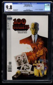 100 Bullets #1 CGC NM/M 9.8 White Pages