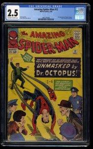 Amazing Spider-Man #12 CGC GD+ 2.5 Off White to White