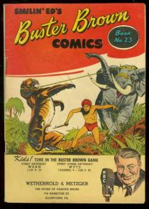BUSTER BROWN #23-GIVEAWAY-TIGER AND ELEPHANT COVER VG/FN