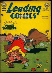LEADING COMICS #37 1949-DC COMICS-PETER PORKCHOPS VG/FN