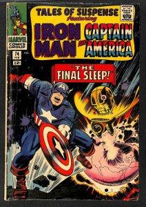 Tales Of Suspense #74 VG- 3.5 Iron Man