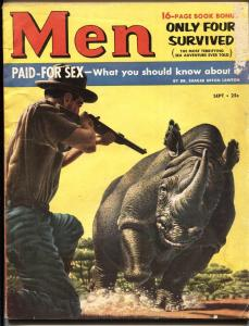 Men 9/1953-Atlas-Rhino -Shark attacks-call girls-more!