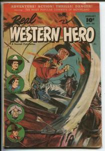 REAL WESTERN HERO #74 1949-FAWCETT-HOPALONG CASSIDY-GABBY HAYES-TOM MIX-vf minus
