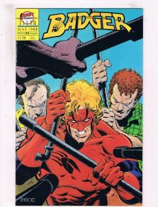 Badger #33 VF First Comics Comic Book Baron March 1988 DE25