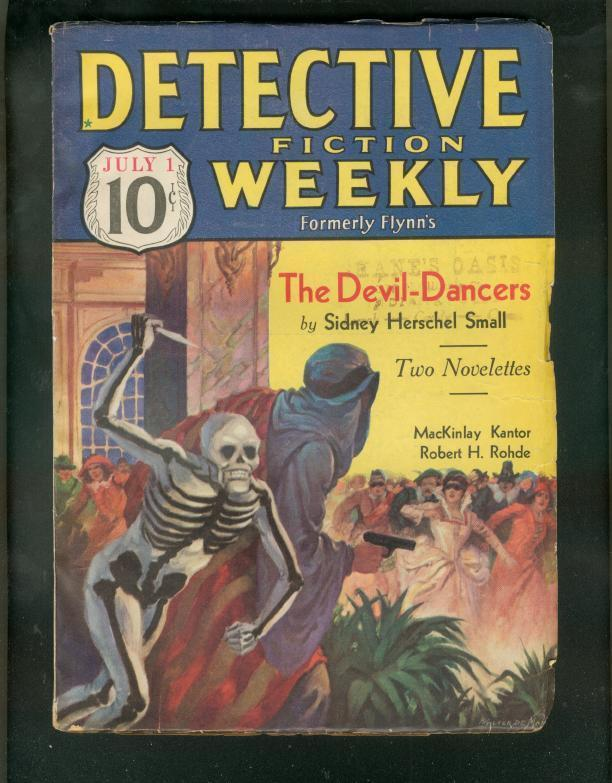 DETECTIVE FICTION WEEKLY PULP-7/1/33-WILD SKULL COVER   FN